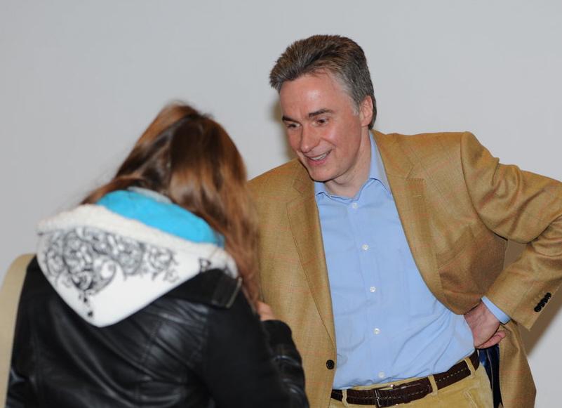 André Gerhard im Pausengespräch